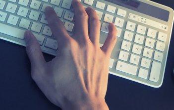 computer keyboard hands