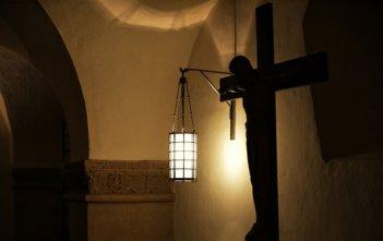dark church crucifix