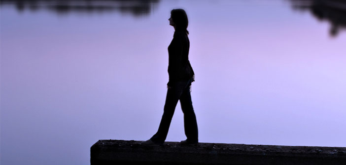 woman silhouette water
