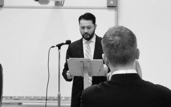 Owen Vyner presenting in Jubilee Year of Mercy series