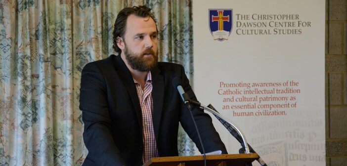 Dr Connor Sweeney at the Dawson Colloquium 2016