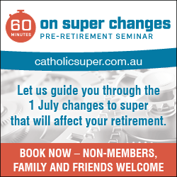 Australian Catholic Superannuation and Retirement Fund 2017 Seminar Advertisement