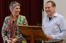 Byron and Francine Pirola at the Matrimonium Project launch in the Archdiocese of Hobart