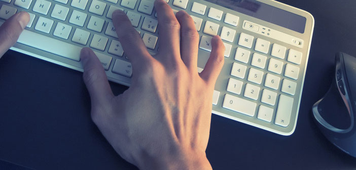 computer keyboard hands