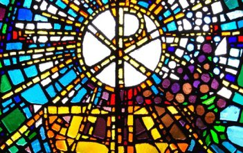 Eucharist Stain-Glass window