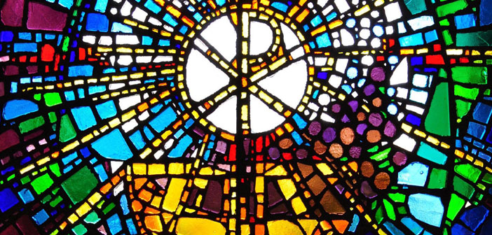 Eucharist Stain-Glass window