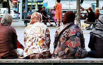 Muslim women sitting