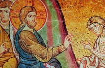 Christ heals leper