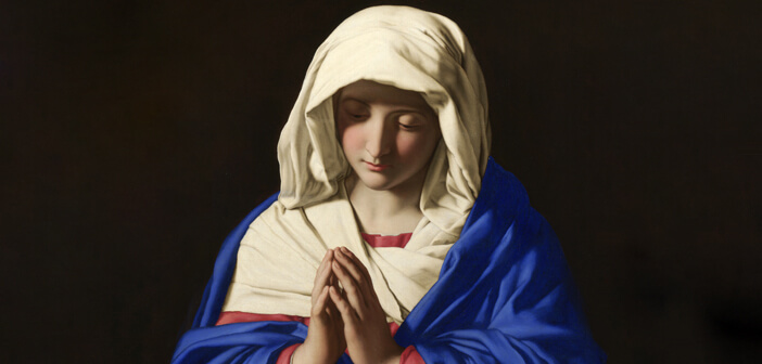 Blessed Virgin Mary by Sassoferrato