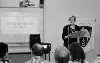 Anna Krohn presenting at the Jubilee Year of Mercy Series