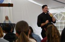 Fr Daniel McCaughan speaking at Immaculata Mission School 2016 02