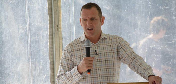 James Parker speaking at Sydney University