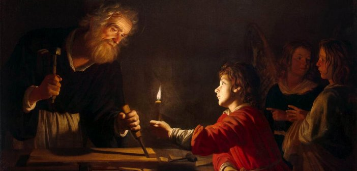 St Joseph the Worker (Childhood of Christ by Gerrit van Honthorst)