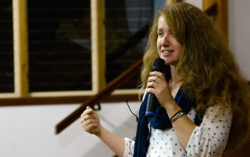 Jess Leach at the Mercy Retreat in Mullumbimby