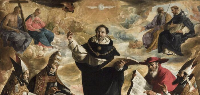 Apotheosis of St Thomas Aquinas by Francisco de Zurbarán