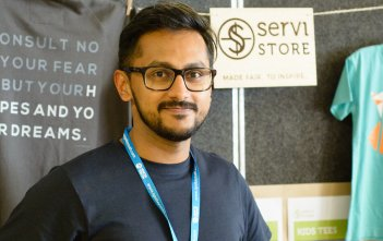 Ajesh Abraham of Servi Store at Ignite Conference