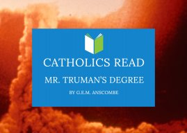 Catholics Read Mr. Truman's Degree