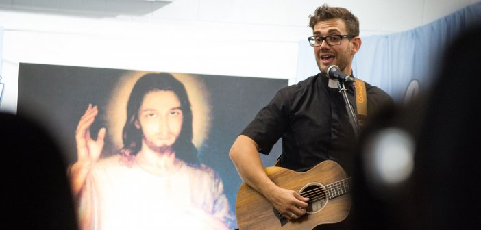 Fr Rob Galea at the Immaculata Mission School 2018