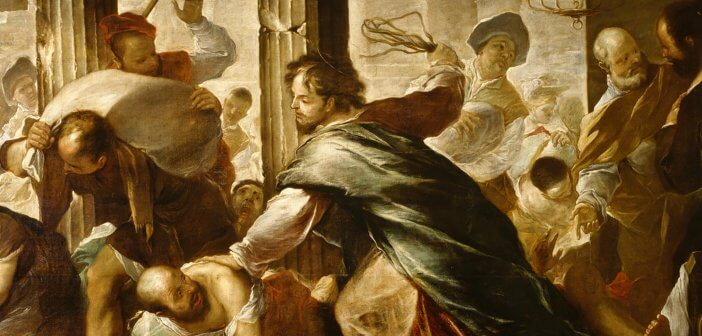 Christ Cleansing the Temple by Luca Giordano