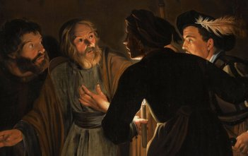 Denial of St Peter by Student of Gerard Seghers