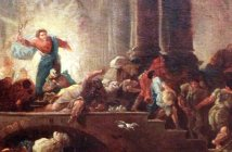 Christ expulses the money changers out of the temple by Hubert Robert